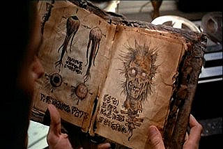 The Necronomicon (The Evil Dead)A book bound by human flesh.