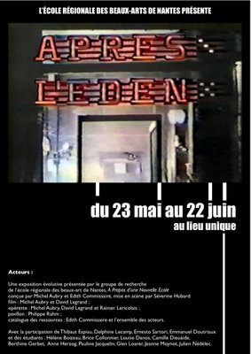 L'�den et apr�s (Eden and After)