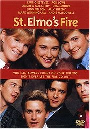 St. Elmo's Fire has a host of stars including Emilio Estevez, Rob Lowe, Demi Moore and Ally Sheedy. Click here to check out the DVD version
