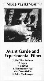 Avant Garde and Experimental Films