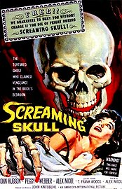 The Screaming Skull Poster