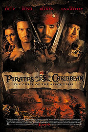 Pirates of the Caribbean: The Curse of the Black Pearl poster Johnny Depp Jack Sparrow