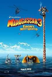 Madagascar 3: Europe&#039;s Most Wanted Poster