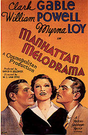 Manhattan Melodrama poster Clark Gable Blackie Gallagher