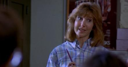 Lin Shaye (as Teacher) in &#039;A Nightmare on Elm Street&#039;