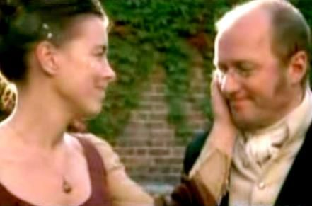 Olivia with Ade Edmondson in 'Miss Austen Regrets'