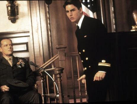 Jack Nicholson & Tom Cruise in A Few Good Men