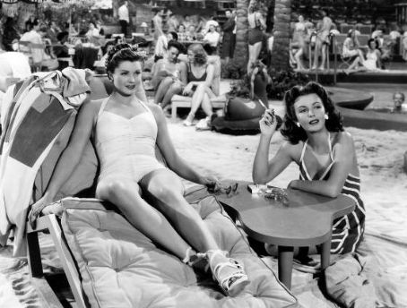 Esther Williams and Frances Gifford