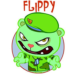 so far most pictures of me have been south park style well i am changing now i will put pictures on RT even if it is not me well here is flippy from happy tree friends