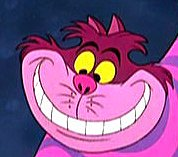 The original Cheshire cat (well, kinda) from the cartoon Alice in Wonderland.  Im not a huge fan of the new movie, but I LOVED The new cheshy!!  Just couldnt get a light enough pic haha