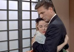 Shirley Yamaguchi and Robert Stack