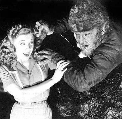 Evelyn Ankers and Lon Chaney Jr