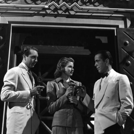 Paul Henreid, Ingrid Bergman and Humphrey Bogart